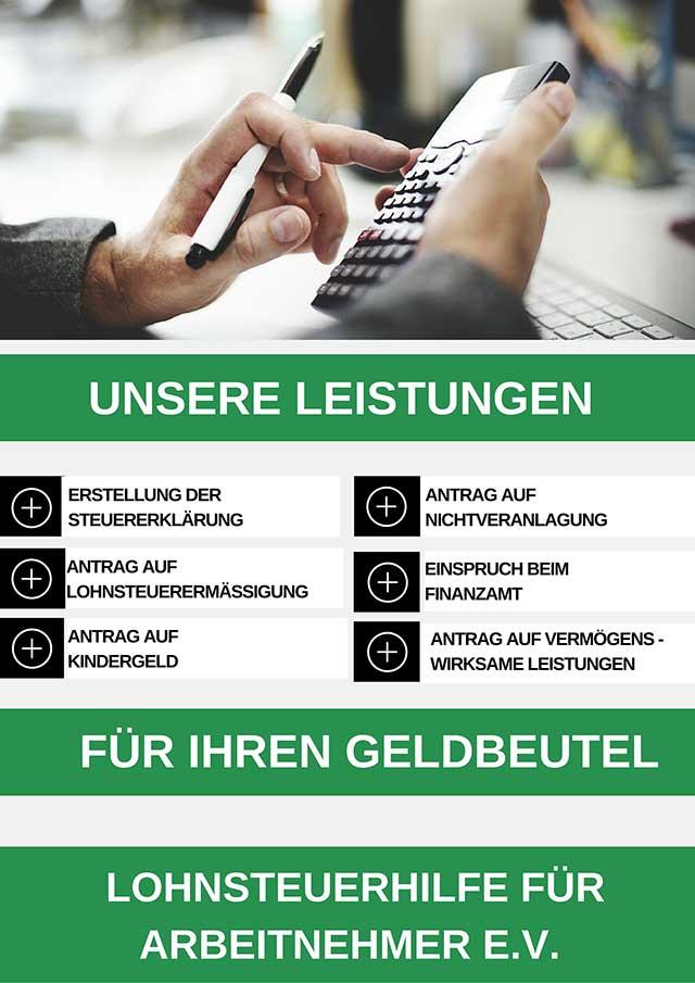 Lohnsteuerhilfeverein Oberlungwitz – Steuern sparen bei der Lohnsteuerhilfe Andrea Wichert.